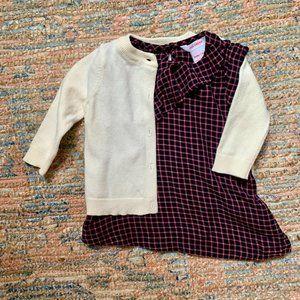 Joe Fresh Dress & Cardigan | 3-6m